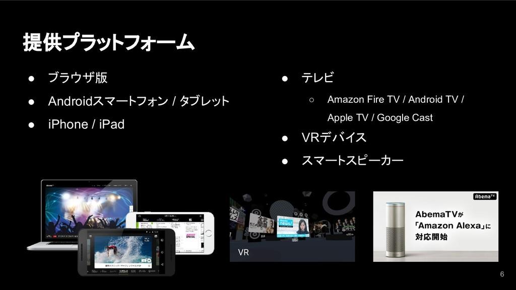 提供プラットフォーム ● ブラウザ版 ● Androidスマートフォン / タブレット ● i...