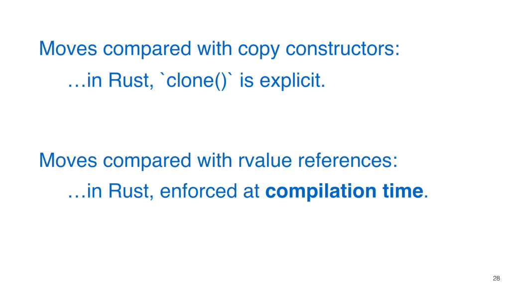 28 …in Rust, enforced at compilation time. Move...