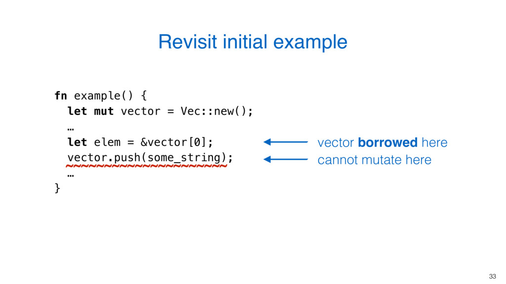 33 fn example() { let mut vector = Vec::new(); ...