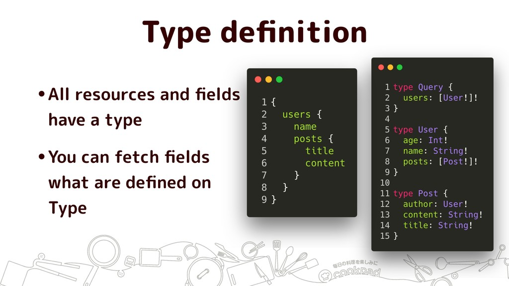 Type definition •All resources and fields have a ...