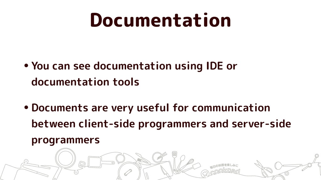 Documentation •You can see documentation using ...
