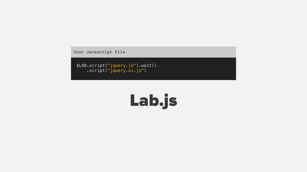 """$LAB.script(""""jquery.js"""").wait() .script(""""jquery..."""
