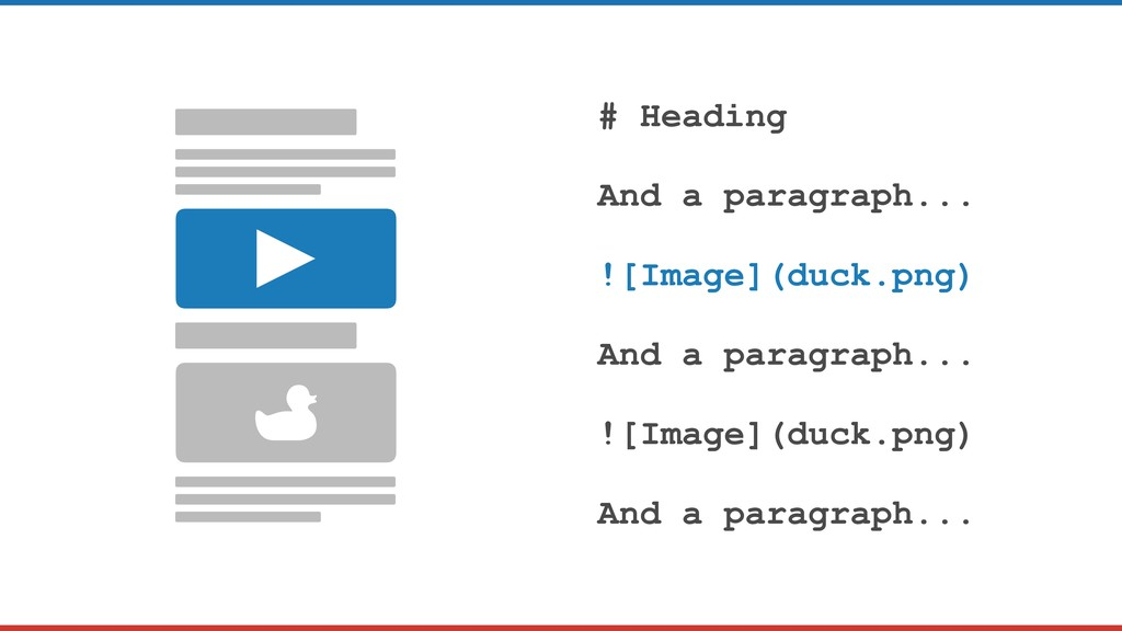 # Heading And a paragraph... ![Image](duck.png)...