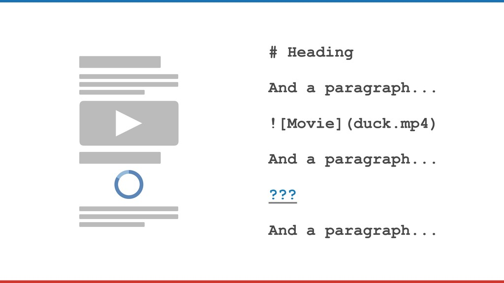 # Heading And a paragraph... ![Movie](duck.mp4)...
