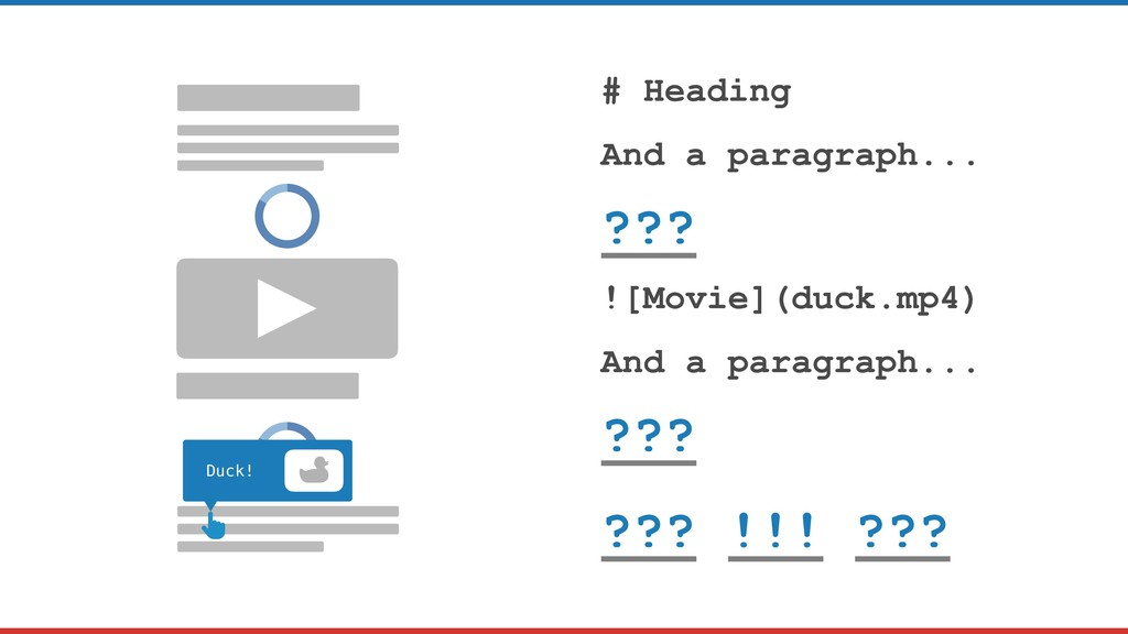 # Heading And a paragraph... ??? ![Movie](duck....