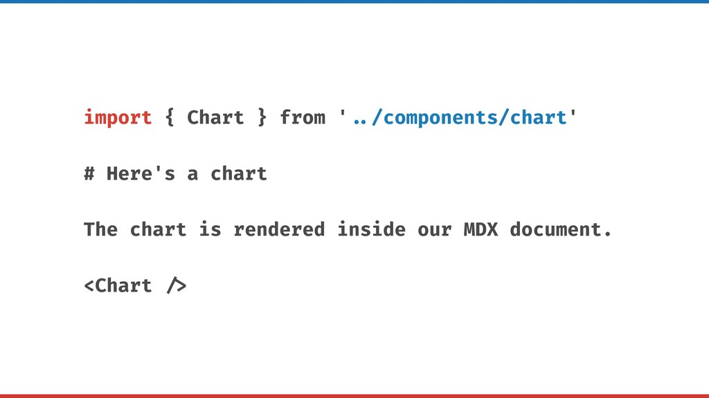 import { Chart } from ' ../components/chart' # ...
