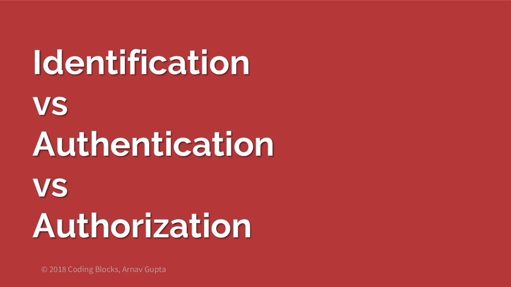 Identification vs Authentication vs Authorizati...
