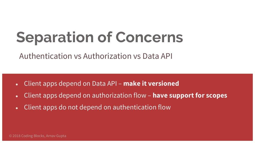 Separation of Concerns Authentication vs Author...