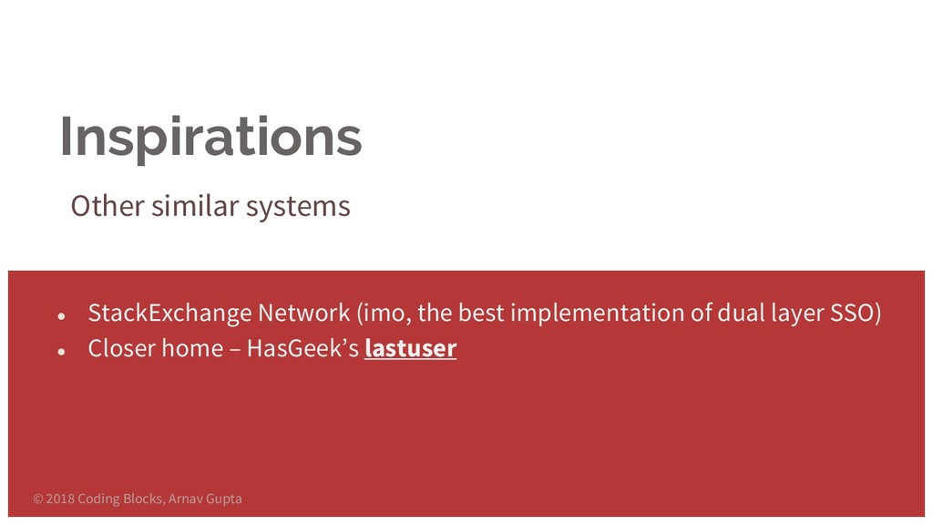 Inspirations Other similar systems ● StackExcha...