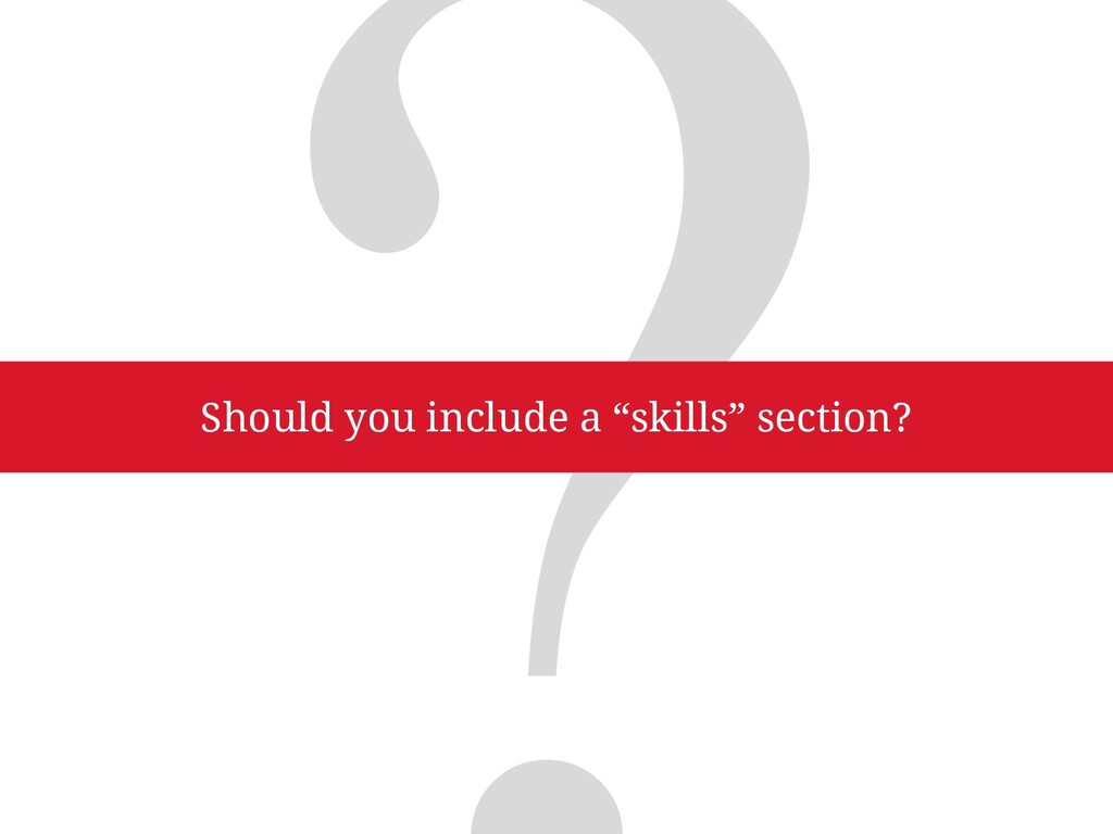 """5 Reasons Why People Think They Need a """"Skills""""..."""