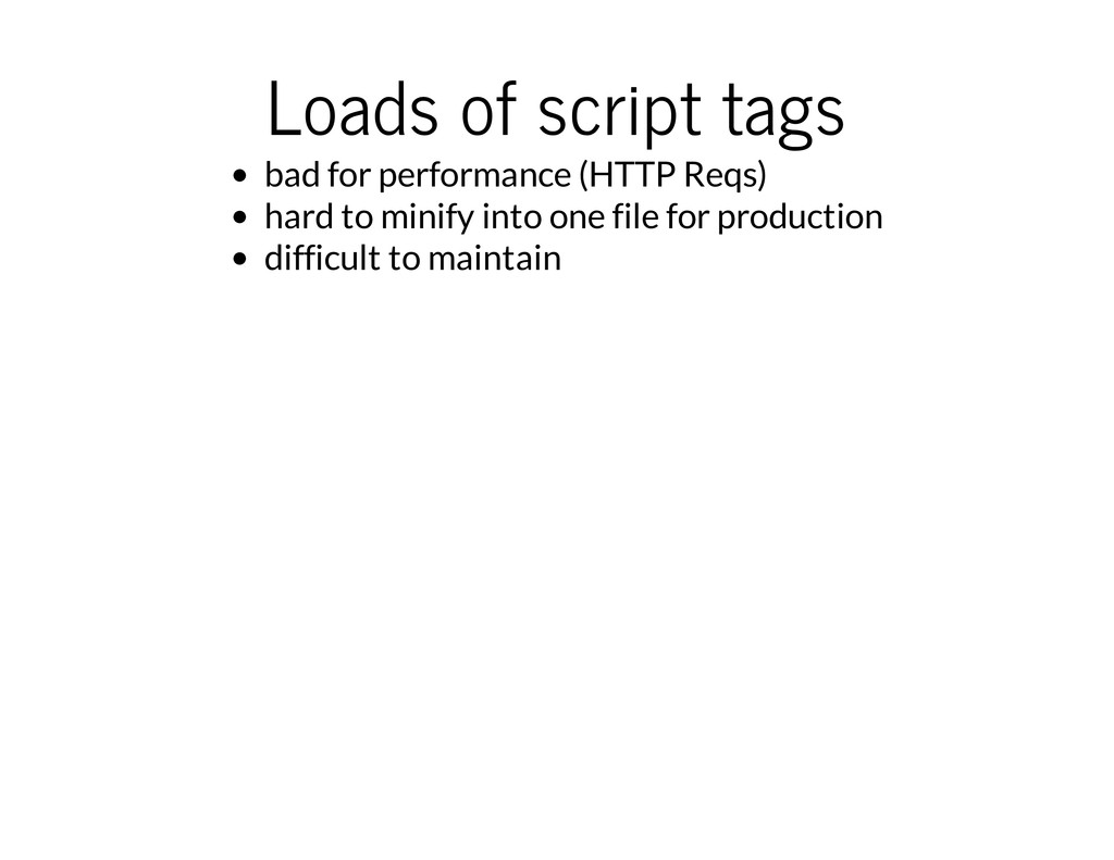 Loads of script tags bad for performance (HTTP ...