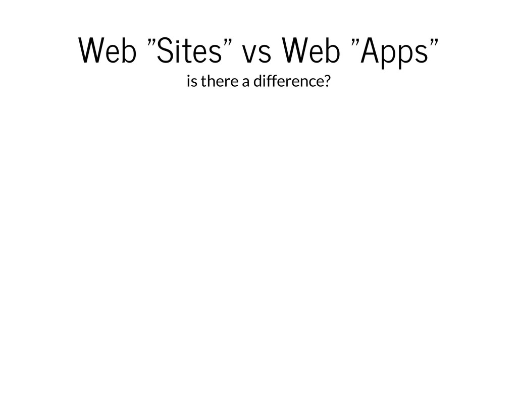 """Web """"Sites"""" vs Web """"Apps"""" is there a difference?"""
