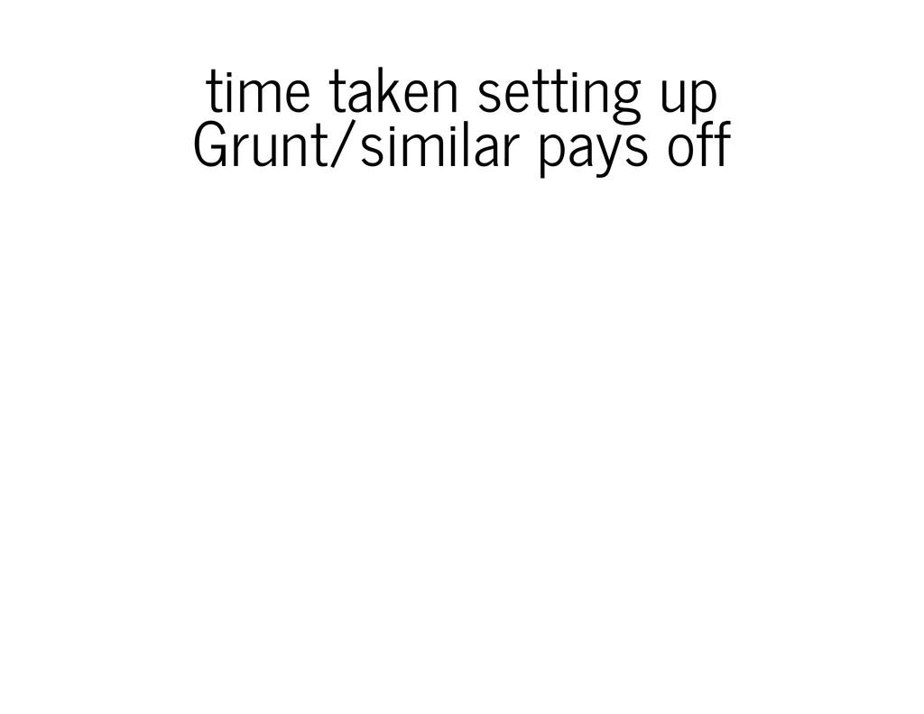 time taken setting up Grunt/similar pays off