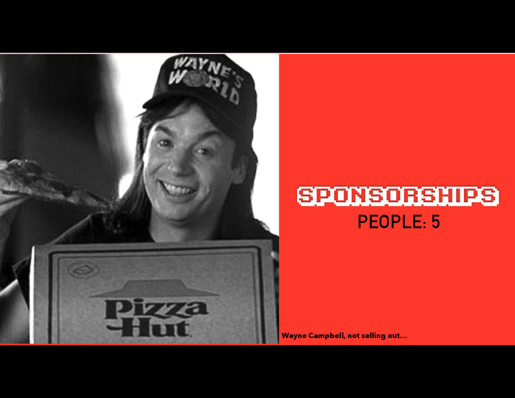 SPONSORSHIPS Wayne Campbell, not selling out… P...