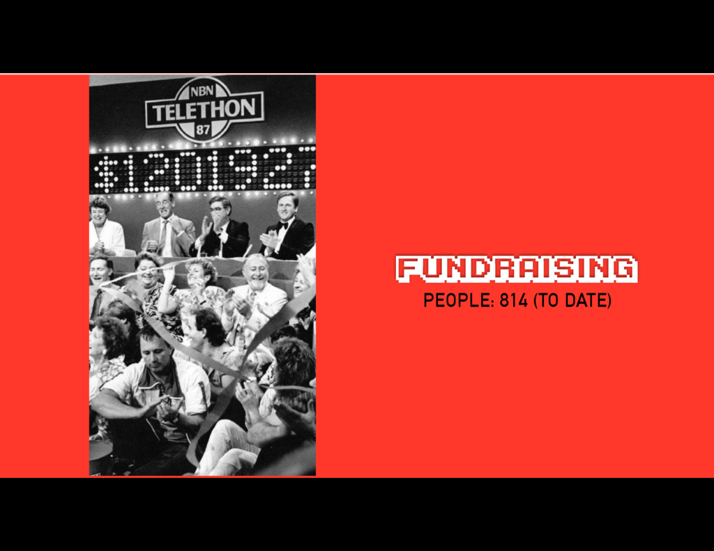 FUNDRAISING PEOPLE: 814 (TO DATE)