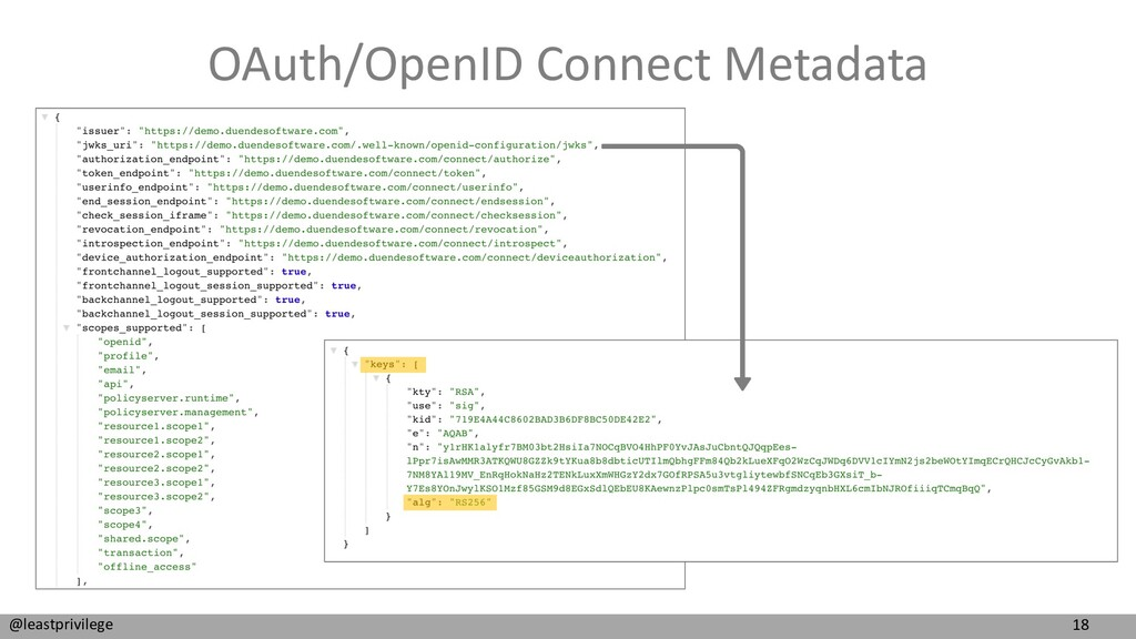 18 @leastprivilege OAuth/OpenID Connect Metadata