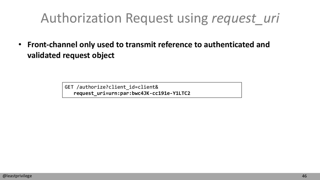 46 @leastprivilege Authorization Request using ...