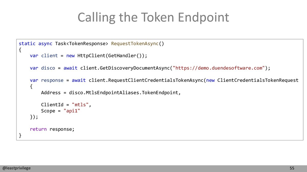 55 @leastprivilege Calling the Token Endpoint s...