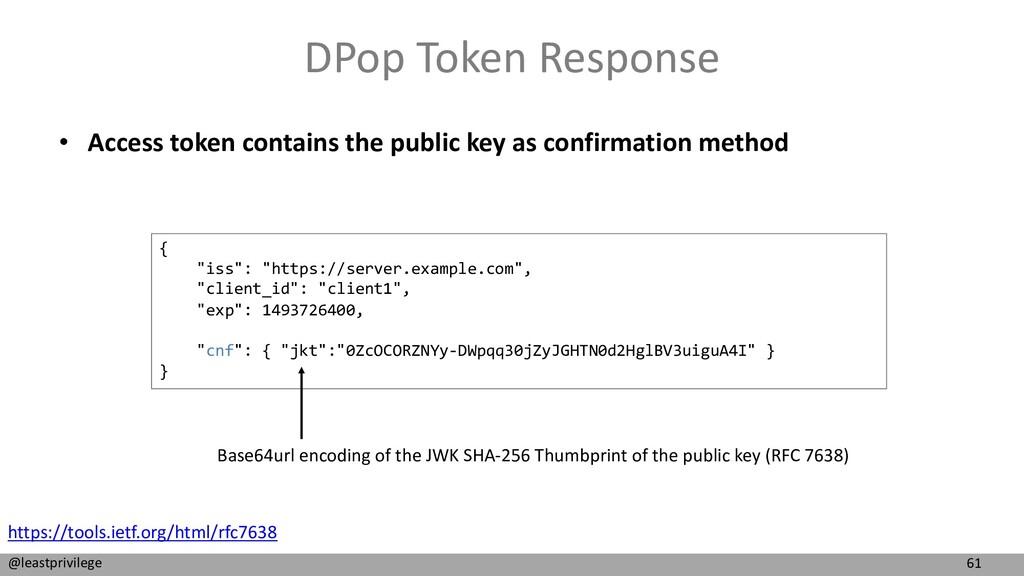 61 @leastprivilege DPop Token Response • Access...