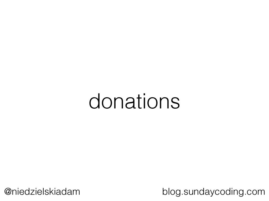 @niedzielskiadam blog.sundaycoding.com donations