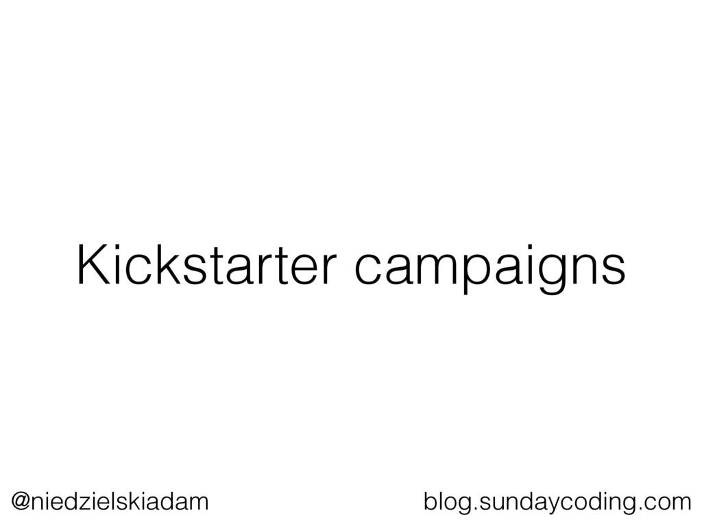 @niedzielskiadam blog.sundaycoding.com Kickstar...