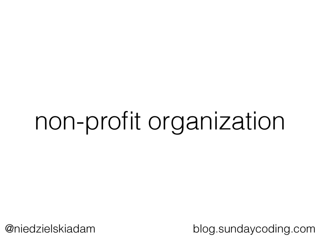 @niedzielskiadam blog.sundaycoding.com non-profi...