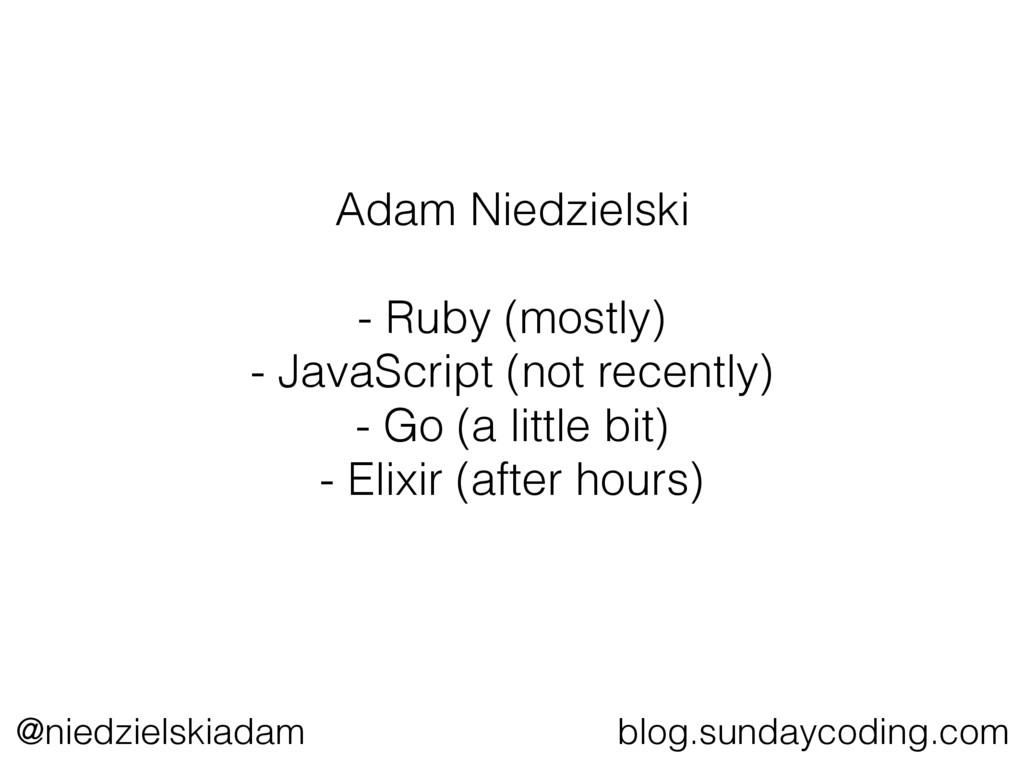 @niedzielskiadam blog.sundaycoding.com Adam Nie...