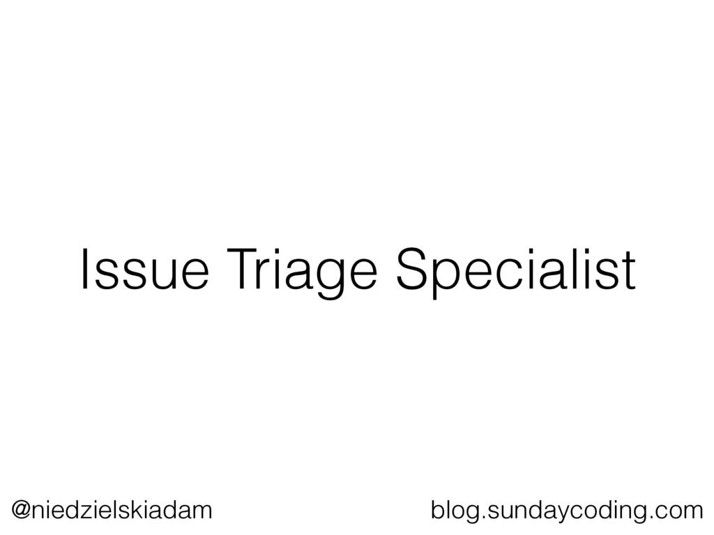 @niedzielskiadam blog.sundaycoding.com Issue Tr...