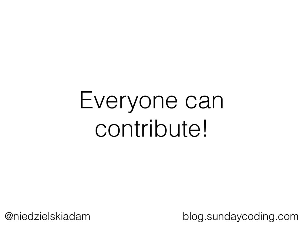 @niedzielskiadam blog.sundaycoding.com Everyone...