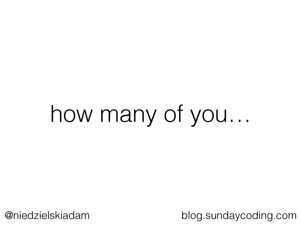 @niedzielskiadam blog.sundaycoding.com how many...