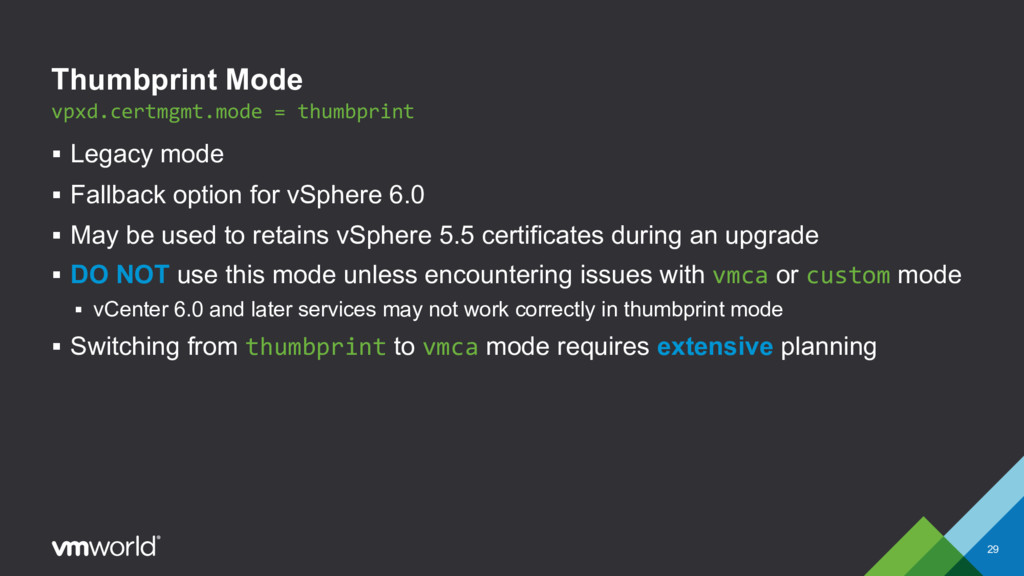 Thumbprint Mode § Legacy mode § Fallback option...