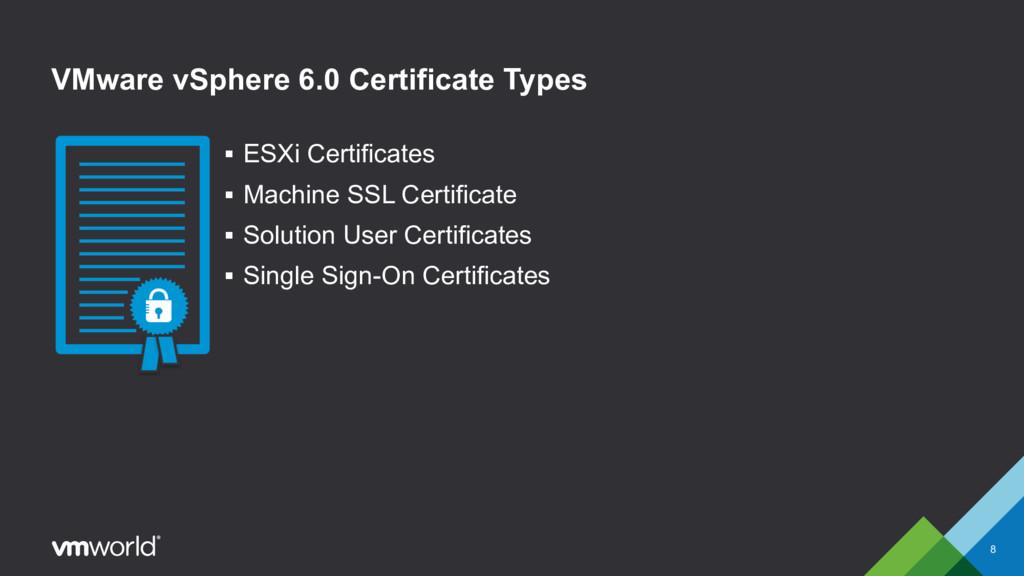 VMware vSphere 6.0 Certificate Types § ESXi Cer...