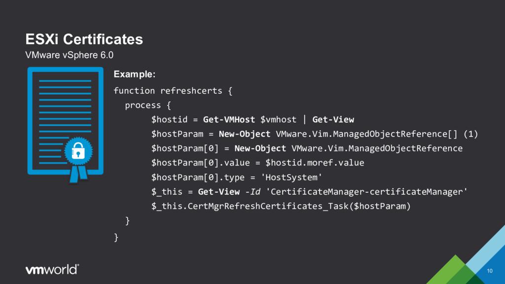 ESXi Certificates 10 VMware vSphere 6.0 Example...