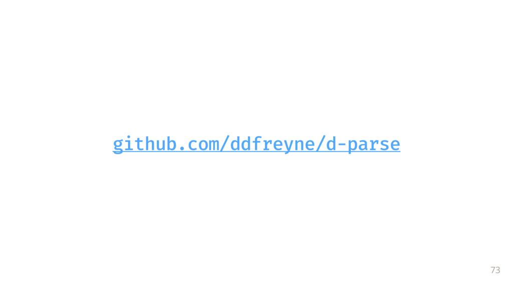 github.com/ddfreyne/d-parse 73