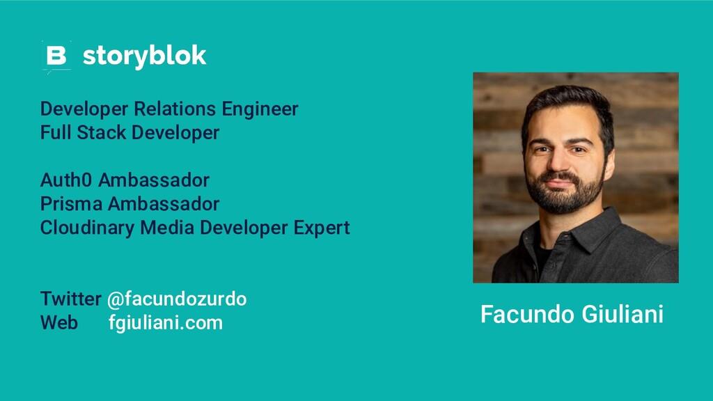 Facundo Giuliani Developer Relations Engineer F...