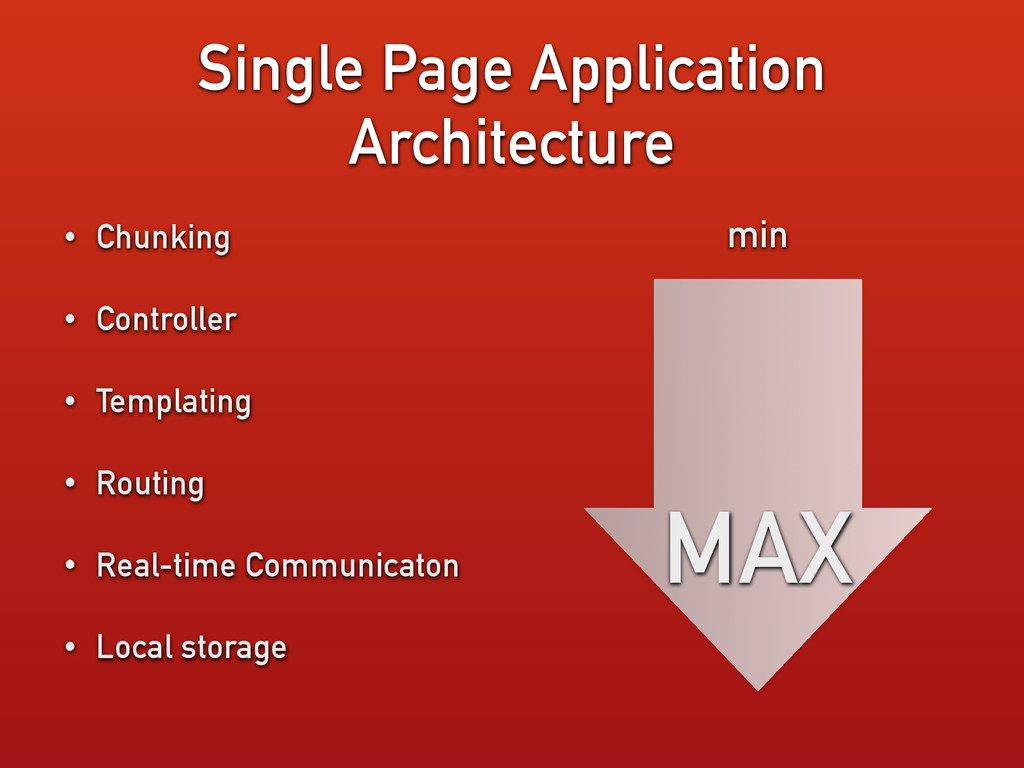 Single Page Application Architecture • Chunking...