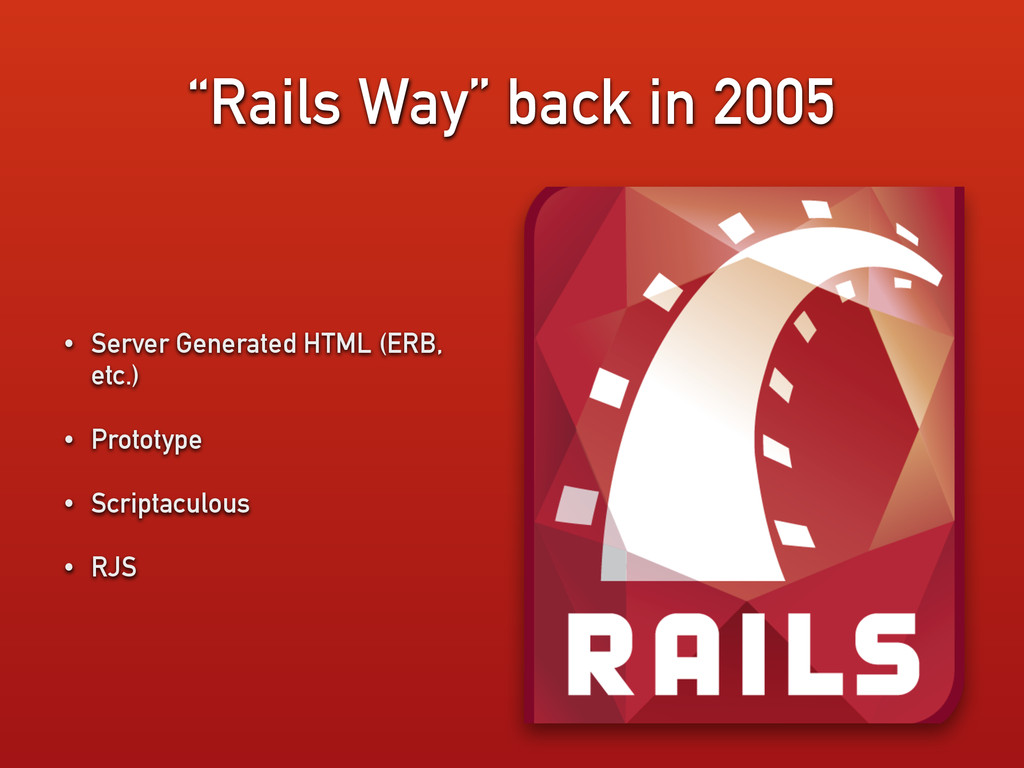 """Rails Way"" back in 2005 • Server Generated HTM..."