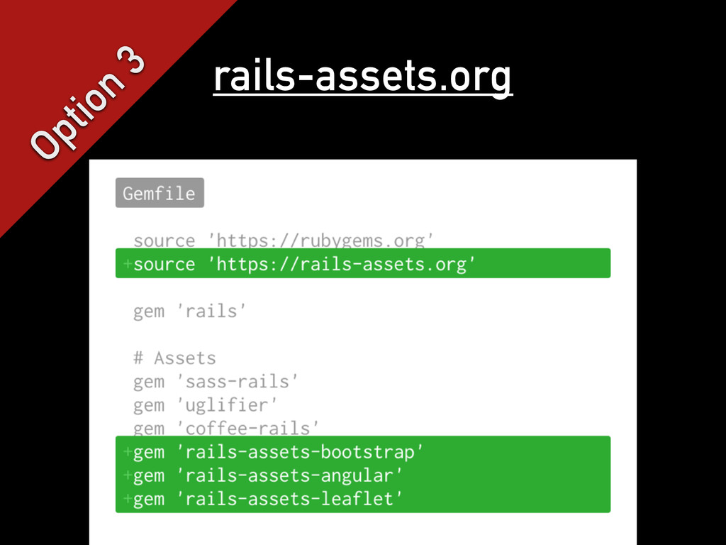 Option 3 rails-assets.org