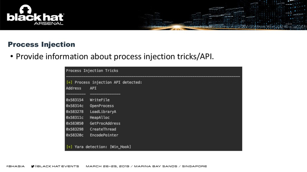 • Provide information about process injection t...