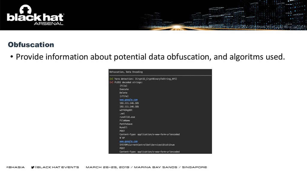 • Provide information about potential data obfu...