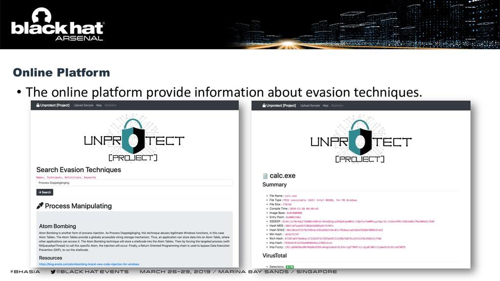 • The online platform provide information about...