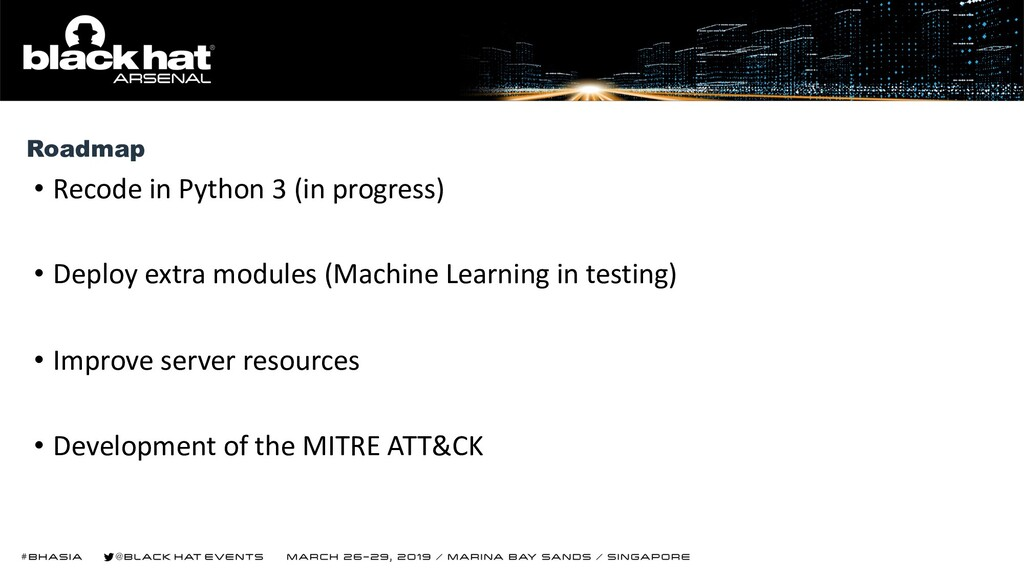 • Recode in Python 3 (in progress) • Deploy ext...
