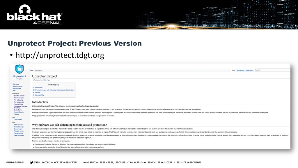 • http://unprotect.tdgt.org Unprotect Project: ...