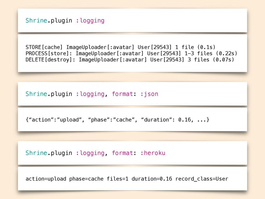 Shrine.plugin :logging STORE[cache] ImageUpload...