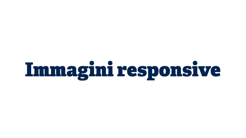 Immagini responsive