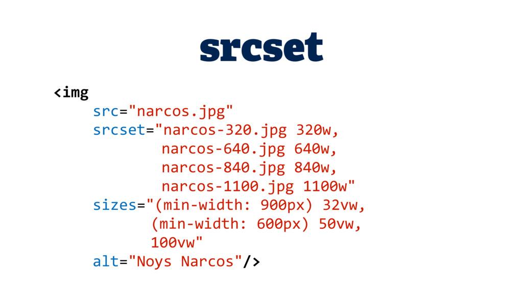 "srcset <img src=""narcos.jpg"" srcset=""narcos-320..."