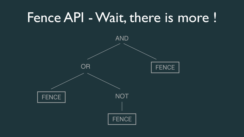 Fence API - Wait, there is more ! FENCE AND OR ...