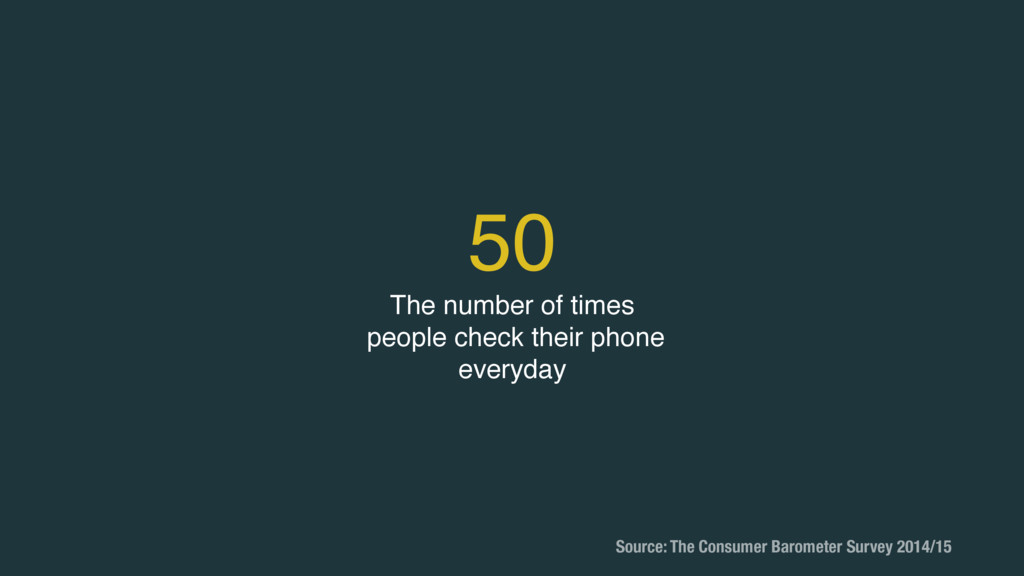 50 The number of times people check their phone...