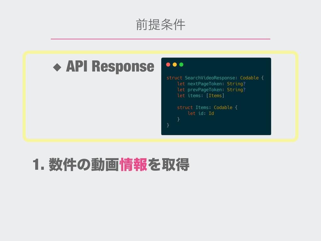 લఏ݅ ◆ API Response 1. ݅ͷಈըใΛऔಘ