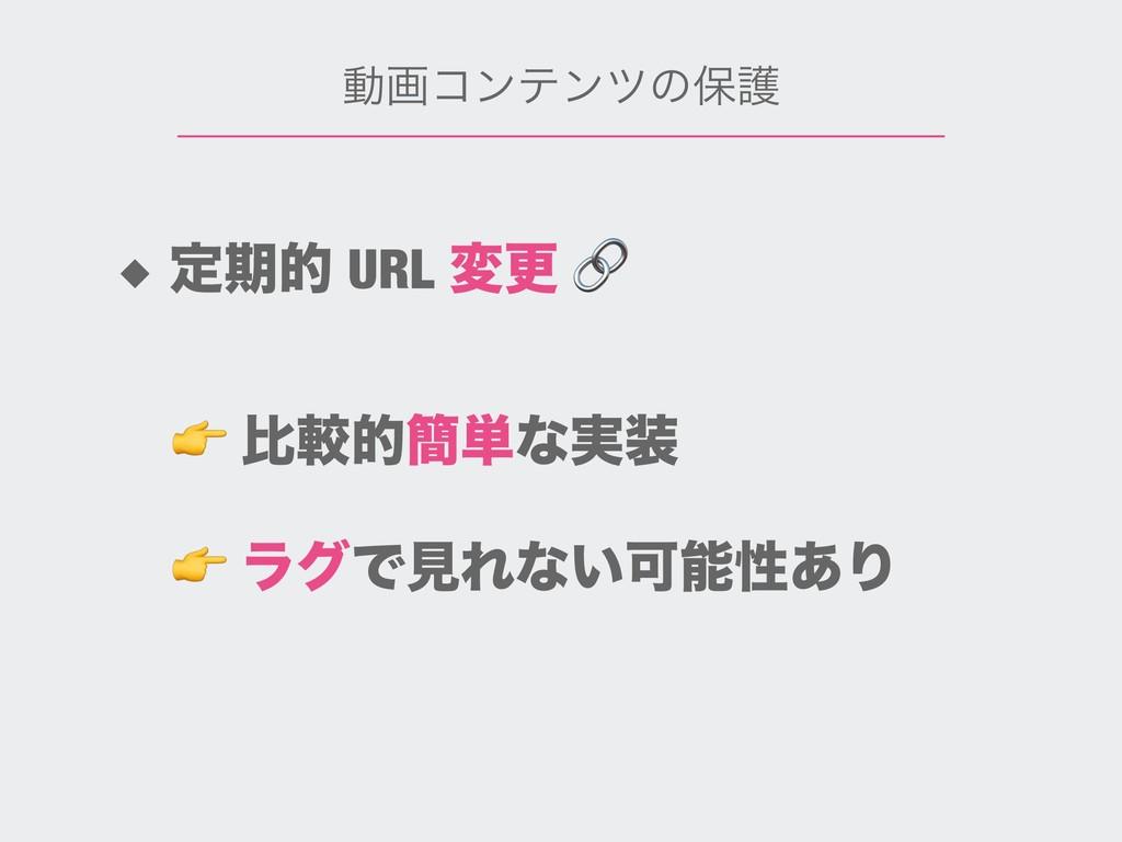 ಈըίϯςϯπͷอޢ ◆ ఆظత URL มߋ   ϥάͰݟΕͳ͍Մੑ͋Γ  ൺֱత؆୯ͳ࣮